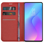Leather Wallet Case & Card Pouch for Xiaomi Mi 9T / Redmi K20 Pro - Red